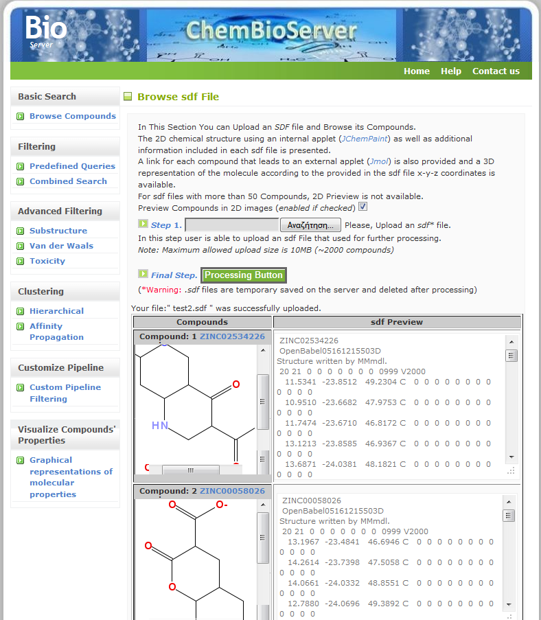 Browse Compounds Tutorial